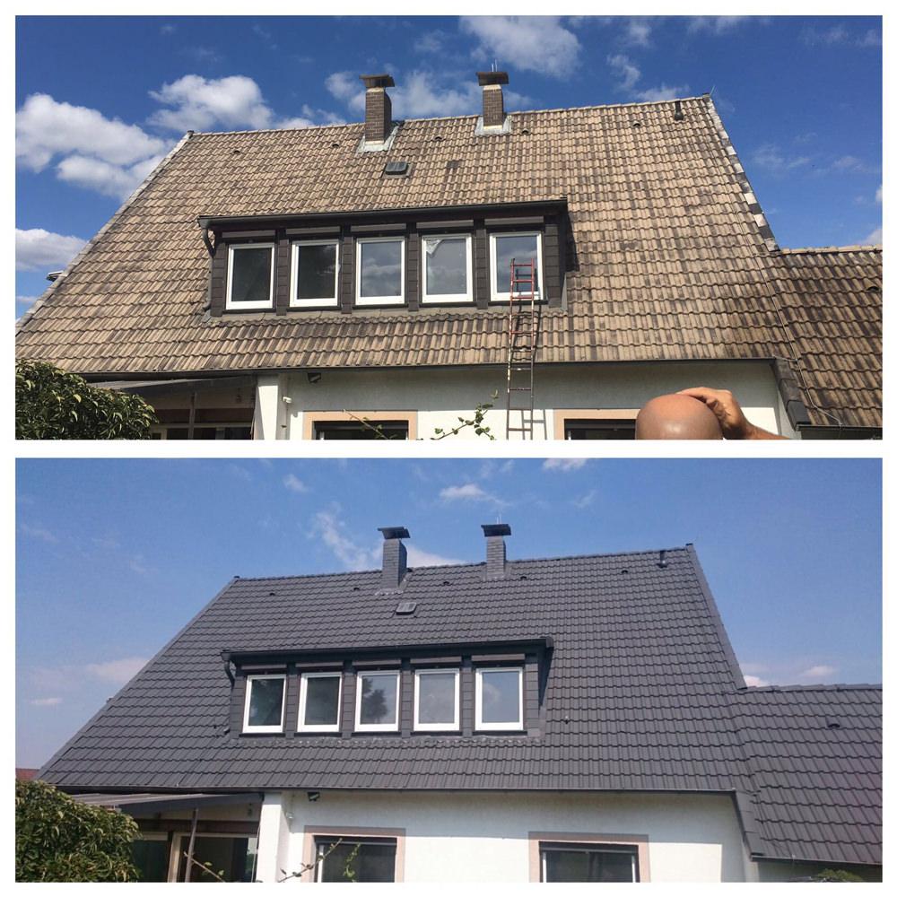 Dachsanierung - Beispiel Vorher Nachher Privathaus